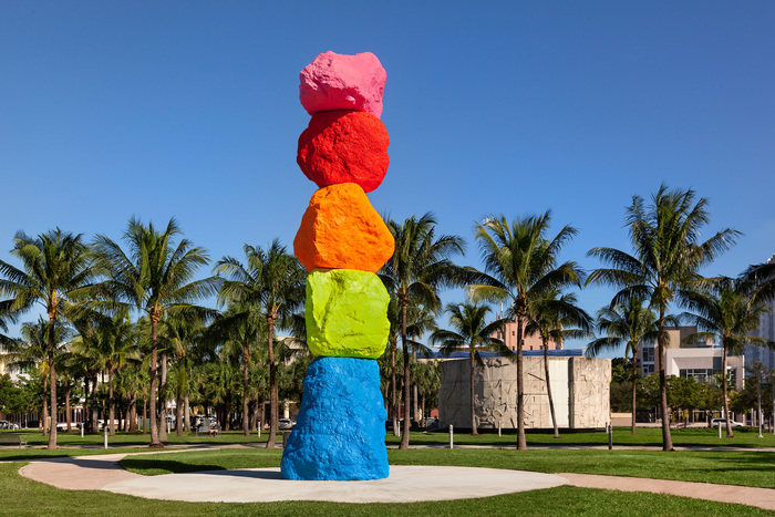 Arte Fuse: The BASS Museum Officially Unveils Ugo Rondinone's 42 Foot Tall Miami Mountain During ABMB