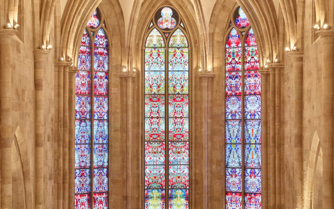 Stained Glass Window Design in German Abbey